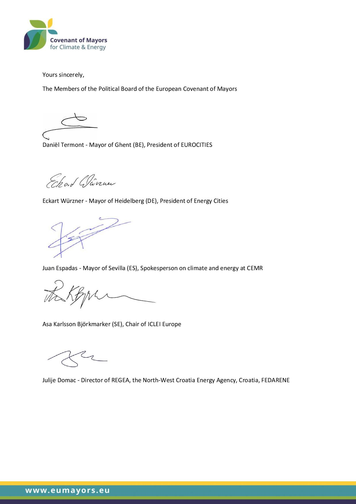 CoM Open letter to Energy Ministers Governance Regulation page 002